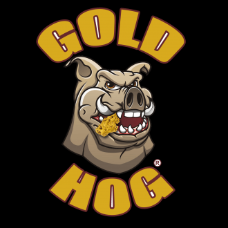Gold Hog logo on black